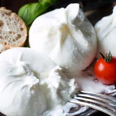 Mozzarella, burrata en stracciatella